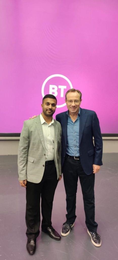 Trevor Gomes And BT CEO Philip Jansen 467x1024
