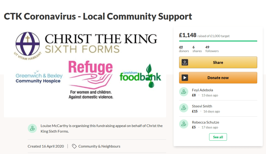 Fundraising for the local Community
